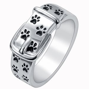 🐾Paw Print Collar Fashion Ring